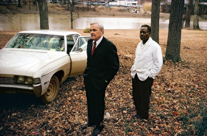 Untitled, 1969 – 70, (the artist's uncle, Ayden Schuyler Senior, with Jasper Staples, in Cassidy Bayou, Summer, Mississippi) by William Eggleston © Eggleston Artistic Trust